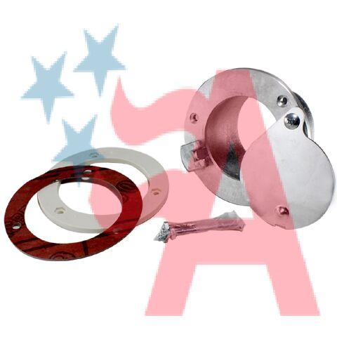 EL42 Doors AMERICAN GARAGE DOOR SUPPL Aluminum Exhaust Port,Latching 4 In,2 In